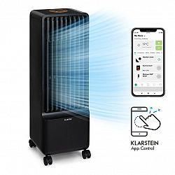 Klarstein Maxflow Smart,  3 v 1 ochladzovač vzduchu, ventilátor, zvlhčovač vzduchu, 5 l, WiFi, diaľkový ovládač, 2 × chladiaca súprava