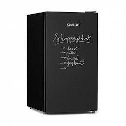 Klarstein Miro, chladnička, popísateľná predná strana, 91 l, A+, priečinok na zeleninu, čierna