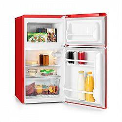 Klarstein Monroe Red kombinovaná chladnička s mrazničkou 61/24 l A+ Retrolook červená