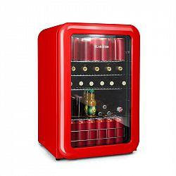 Klarstein PopLife, chladnička na nápoje, chladnička, 115 litrov, 0 - 10 °C, retro dizajn, červená