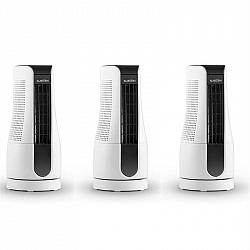 Klarstein Skyscraper Office, stĺpový ventilátor, sada 3 ks, 16 W, dotykový, biely