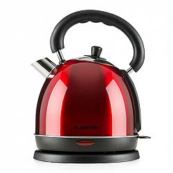 Klarstein Teatime varič na vodu čajová kanvica 1850-2200 W 1,8 l ušľachtilá oceľ rubínovo červená