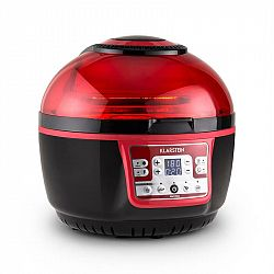 Klarstein VitAir Turbo, 1400 W, 9 l, teplovzdušná fritéza, grilovanie, pečenie, červeno-čierna