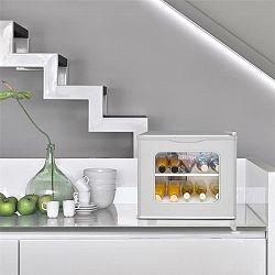 Klarstein Winehouse minibar, 17 litrov, 60 W, trieda A++, 38 dB, sklené dvere, strieborná farba