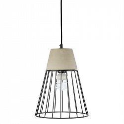Loocida Sonnenstein Studie 78, betónová visiaca lampa, závesná lampa, betón & oceľ