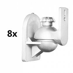 LUA SB-28, biely, držiak reproduktora, sada 8 ks, <3,5 kg, domáce kino, HiFi