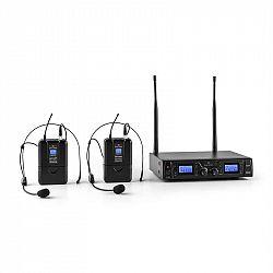 Malone Duett Pro V2, 2-kanálový UHF bezdrôtový mikrofónový set, dosah 50 m