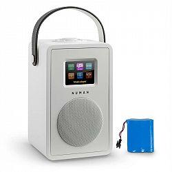 Numan Mini Two Design internetové rádio WiFi DLNA bluetooth FM biela vrátane nabíjacej batérie