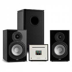 Numan Unison Reference 802 Edition, stereo systém, zosilňovač, UniSub, reproduktory, čierna