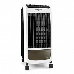 OneConcept CarribeanBlue, mobilný ochladzovač vzduchu, ventilátor, 70 W, čierny/biely