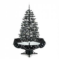 OneConcept Everwhite, vianočný stromček, 180 cm, simulácia sneženia, čierny