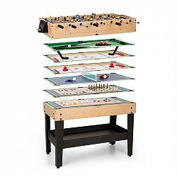 OneConcept Game-Star hrací stôl s 15 hrami, multigame, odkladací priečinok, MDF