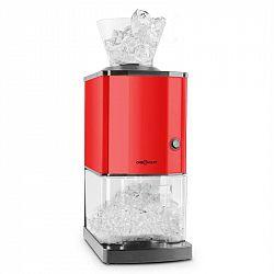 OneConcept Icebreaker, červený, drvič ľadu s výkonom 15kg/h, objemom 3,5l, zásobníkom na ľad, nerezová oceľ