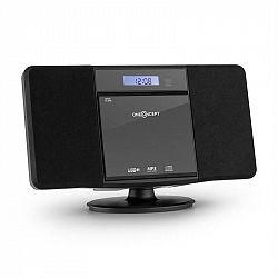 OneConcept V-13 BT, sterosystém s CD MP3 USB bluetooth rádiom, nástenná montáž
