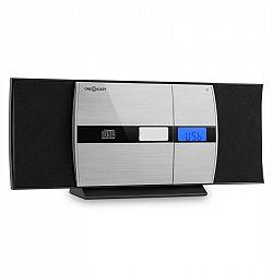 OneConcept V-15-BT, stereo systém, bluetooth, CD, USB, MP3, FM, AUX, budík, čierny