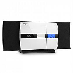 OneConcept V-15, čierny, stereo systém, CD, USB, MP3, FM, AUX, budík