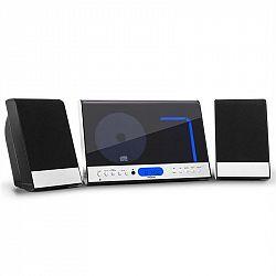 OneConcept Vertical 90, stereo systém, CD, USB, MP3, SD, AUX, čierny