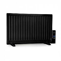 OneConcept Wallander, olejový radiátor, 800 W, termostat, olejové vyhrievanie, ultra plochý dizajn, čierny