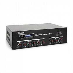 Power Dynamics PBA30, 100 V zosilňovač, 30 W, USB/SD, MP3, bluetooth