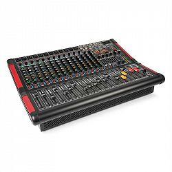Power Dynamics PDM-S1604A, stage mixážny pult, 16-kanálový s integrovaným zosilňovačom (2 x 350 W RMS)