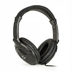 QTC SHB40, HiFi stereo slúchadlá, cca 2,5 m kábel, 3,5 mm jack, čierne