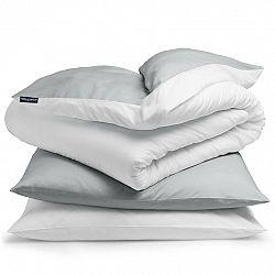 Sleepwise Soft Wonder-Edition, posteľná bielizeň, 155 x 200 cm, svetlosivá/biela