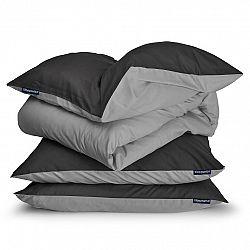 Sleepwise Soft Wonder-Edition, posteľná bielizeň, 155 x 200 cm, tmavosivá/svetlosivá
