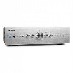 Stereo zosilňovač Auna CD708, AUX phono, strieborný, 600 W
