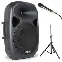 Vexus SPS152 PA reproduktorová sada, 600 W max., bluetooth, USB, SD, MP3, AUX, statív, mikrofón