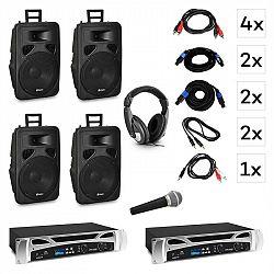 Vonyx Berlin Nights, DJ systém – sada, zosilňovač, reproduktor, DJ slúchadlá, mikrofón